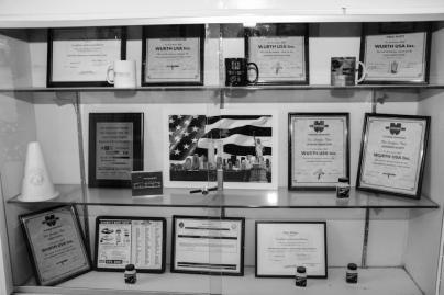 Front desk display