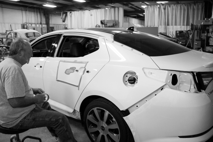 Feb 2013 - From my visit to Harbin's autobody shot in Snellville, Ga
