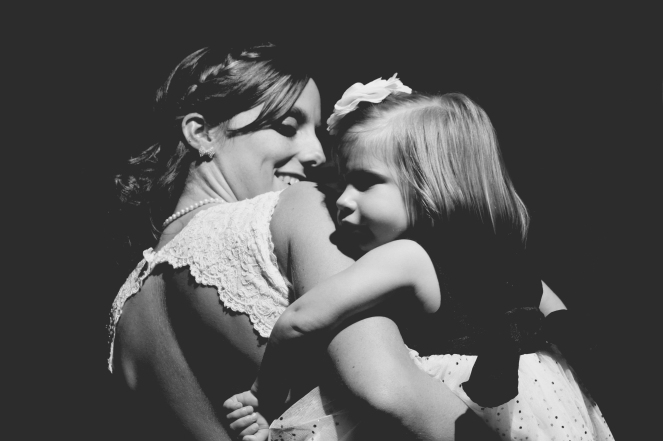 May 2013 - A moment between a bride and her flower girl