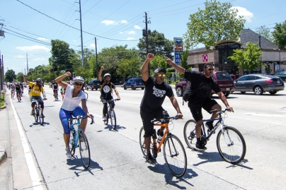 May 2, 2015 - Little Five Points -- In the most active year in social justice in recent history, the bike ride and funeral procession through Atlanta was one of the more powerful moments of the year,