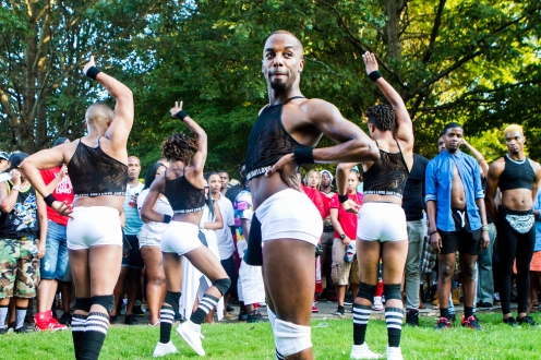September 6, 2015 - Piedmont Park -- It was my first time to the Atlanta Gay Black Pride and it was more fun than I thought. This photo was taking at a dance battle that appeared out of nowhere and I got caught in the middle of.